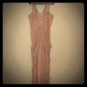 Vera Wang Sequin Pink Dress